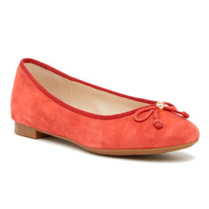Cole Haan Lace Bow Suede Ballet Flats Slip On